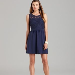 Lilly Pulitzer Navy Rhea Lace Fit and Flare Dress